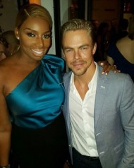 """Bumped into my old dance partner last nite! Cutie pie Derek Hough"" - September 18, 2015 Courtesy neneleakes IG"